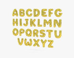 Alphabet Balloon 3D