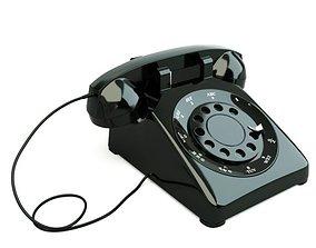 Old Telephone 3D telephone