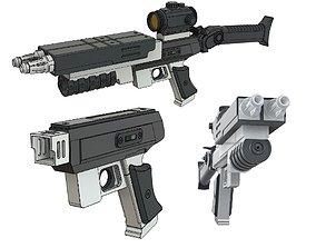3D print model Major West Assembling Pistol Rifle Lost 2