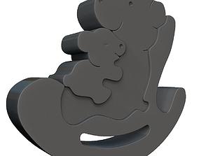 3D print model Bear Family Puzzle