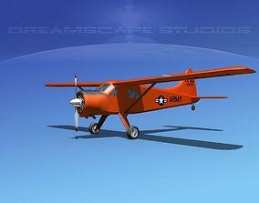 3D model Dehaviland DH-2 Beaver US Army 1