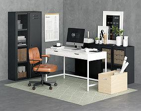 office Alex Industrial Desk 3D