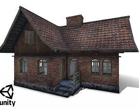 Polish Country Cottage Low-poly 3D model
