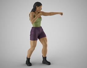 3D print model Boxer Woman