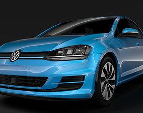 Volkswagen Golf 7 TGI BlueMotion 5D 2016 3D model