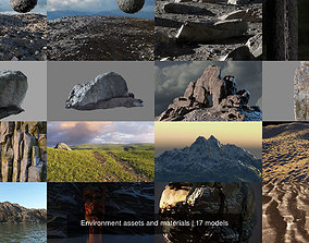 Environment assets and materials 3D model