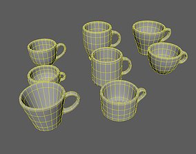 Realistic Mug 3D asset