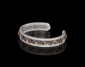 3D print model Rose Cuff Bracelet 1 v2