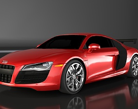 Audi R8 Low Poly game ready VR AR 3D asset