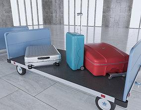 Airport Baggage Carts 3D