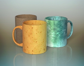 3D model Coffee mugs macchiato