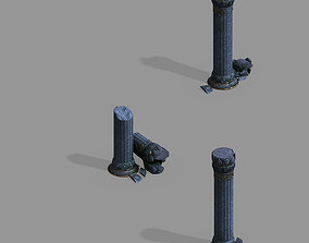 3D model Zhentian Palace-Pillar-Damaged