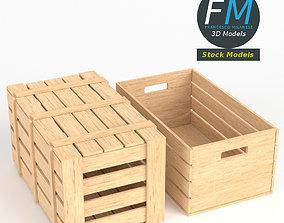 3D model PBR Wooden crates