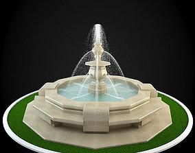 3D building garden Fountain