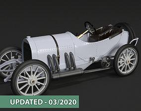 Mercedes GP 1908 oldtimer 3D