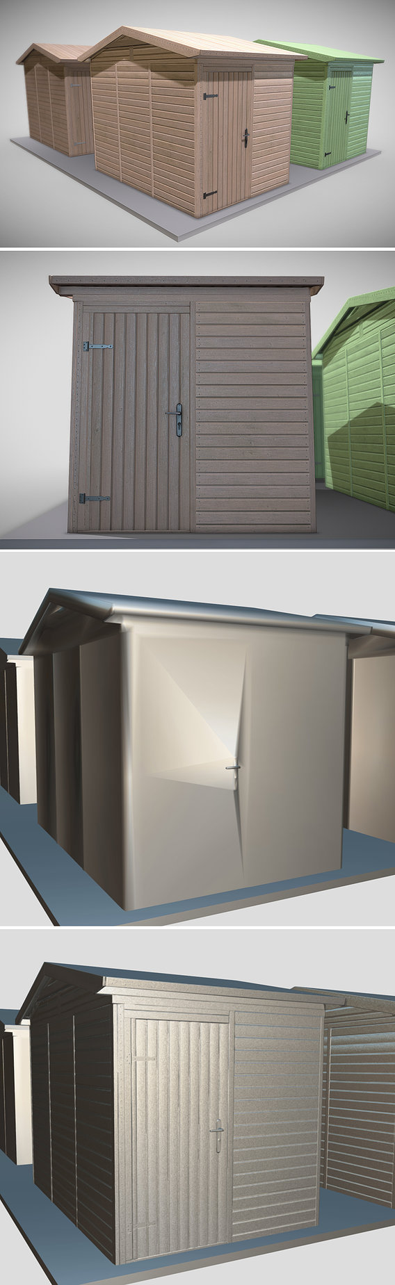 Wooden Garden Shed (Low-Poly Version)