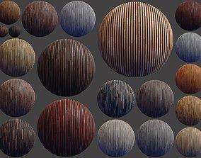 3D model 20 Striped Wood Materials 01 - SBSAR - PBR Maps -