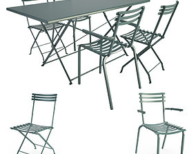 Foldy Metallic Outdoor Furniture 3D model
