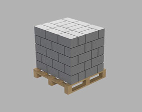 Block Building Pallet Diorama 1-43 scale 3d print model