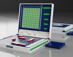 BATTLESHIP board game 3D model game battleships