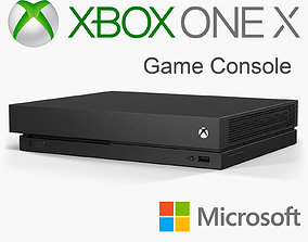 Microsoft Xbox One X Game Console 3D model game-ready