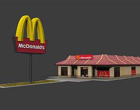McDonalds Restaurant 3D asset realtime