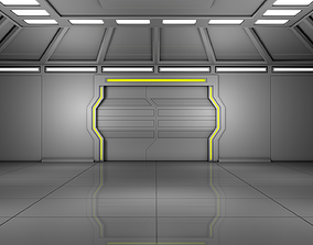 3D model garrage Sci Fi Room