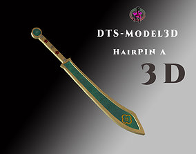 low-poly DTS - Model3D - HairPin A