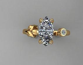 printable Ring - Diamond 3D print model