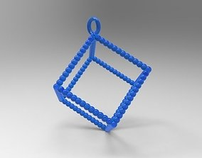 3D printable model cube necklace