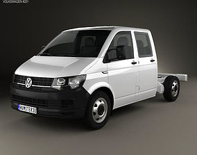 Volkswagen Transporter T6 Double Cab Chassis 2016 3D model