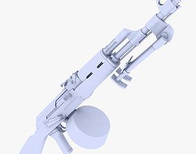 3D asset RPK Light Machine Gun