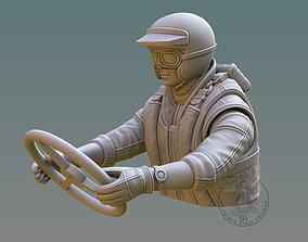 Drag Boat Pilot Bust wather 3D printable model
