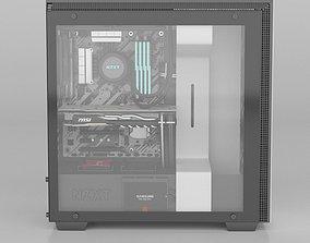 NZXT H700 i PC desktop 3D model