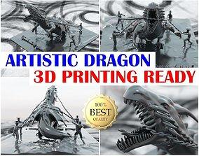 Italian Art - DRAGON IN CHAIN 3D printable model
