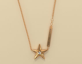 Star Pendant checked 3D printable model