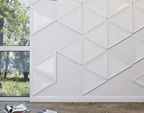 Triangle Geladeco Decor Element Wall Panel 3D model