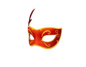 Carnival Mask 3D asset