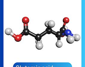 Glutamic acid 3D Model C5H9NO4