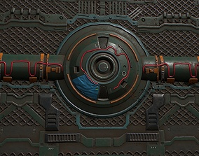 3D asset PBR tileable sci fi panel textures with 1