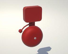3D model Vintage Red Fire Alarm