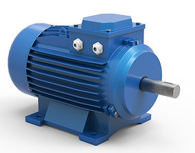 3D Stationary Electric Motor
