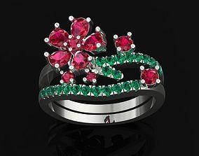 jewellery TJ 57 3D Platinum Women Ring