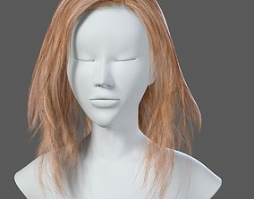 Blonde Woman Hairstyle 3D asset