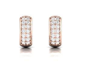 brilliant brillant Women earrings 3dm render detail