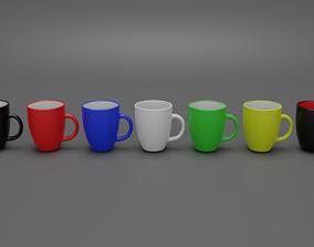 Colored Mug 3D asset