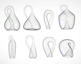 Klein Bottle - Set of 8 Low-Poly 3D models - 3D Math Art