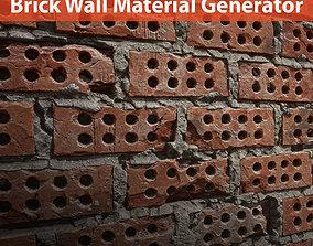 3D model Brick wall material generators