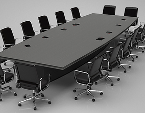 Conference Meeting Room Furniture 08 3D