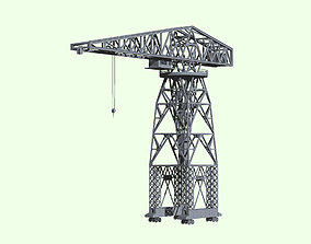 Imperial Japanese Navy 40tons Jib Crane 3D